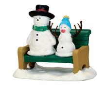 52368 - Snowdad & Snowbaby - Lemax Christmas Figurines