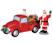 53219 - Santa's Truck, Set of 2 - Lemax Christmas Village Table Pieces