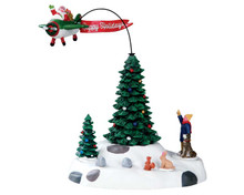 54925 - Modern Santa, Battery-Operated (4.5v) - Lemax Christmas Village Table Pieces