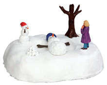 54927 - Snowman Angel, Battery-Operated (4.5v) - Lemax Christmas Village Table Pieces