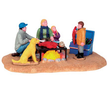 54930 - Winter Clambake, Battery-Operated (4.5v) - Lemax Christmas Village Table Pieces