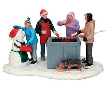 54931 - Snowy BBQ, Battery-Operated (4.5v) - Lemax Christmas Village Table Pieces