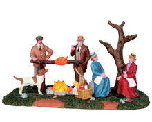 54934 - Hunting Party Roast, Battery-Operated (4.5v) - Lemax Christmas Village Table Pieces