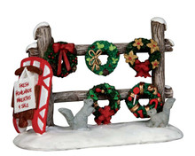 54942 - Christmas Wreaths 4 Sale - Lemax Misc. Accessories