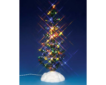 54950 - Lighted Pine Tree, Multi, Large, Battery-Operated (4.5v) - Lemax Christmas Village Trees