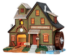 55974 - Spruce Creek Sawmill - Lemax Vail Village Christmas Houses & Buildings