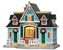 55976 - Happy Tails Pets & Daycare - Lemax Plymouth Corners Christmas Houses & Buildings