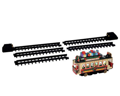54960 - Santa's Cable Car, Battery-Operated (4.5 Volts) - Lemax Trains & Vehicles