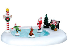 64045 - North Pole Ice Follies, Battery-Operated (4.5 Volts) - Lemax Table Pieces