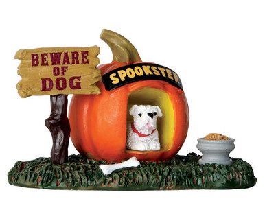 64053 - Pumpkin Doghouse - Lemax Spooky Town Accessories