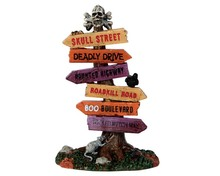 64054 - Scary Road Signs - Lemax Spooky Town Accessories