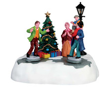 64064 - Happy Christmas, Mr Scrooge!, Battery-Operated (4.5 Volts) - Lemax Table Pieces