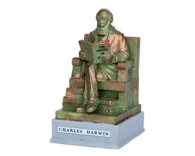 64074 - Park Statue – Charles Darwin - Lemax Misc. Accessories