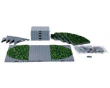 64108 - Plaza System (Grey, Round Grass) - 24 Pcs - Lemax Landscape