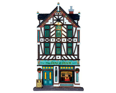 65073 - The Dog & Duck Pub, Battery-Operated (4.5 Volts) - Lemax Facades