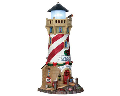 65163 - Snug Harbor Lighthouse, Battery-Operated (4.5 Volts) - Lemax Plymouth Corners
