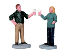 52386 - A Fine Vintage, Set of 2 - Lemax Figurines