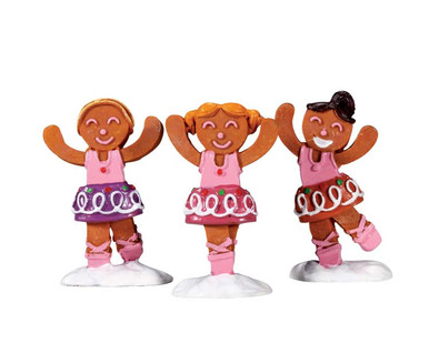 72481 - Dancing Sugar Plums, Set of 3 - Lemax Sugar N Spice Figurines