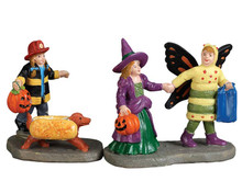 72492 - Ready, Set-Treats! Set of 2 - Lemax Spooky Town Figurines