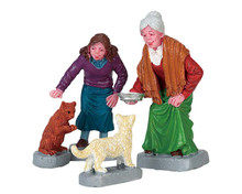 72497 - Cream for Kitty, Set of 4 - Lemax Figurines