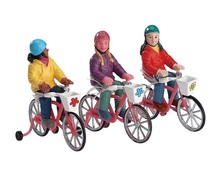72502 - Bike Ride, Set of 3 - Lemax Figurines