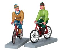 72514 - Bloomers and Bicycles, Set of 2 - Lemax Figurines
