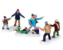 72535 - Family Football, Set of 3 - Lemax Figurines