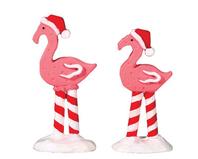 74209 - Pink Flamingos, Set of 2 - Lemax Sugar N Spice Accessories