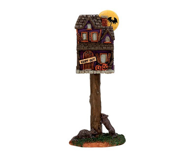 74216 - Full Moon Birdhouse - Lemax Spooky Town Accessories