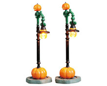 74217 - Witch Pumpkin Patch, Set of 2, Battery-Operated (4.5v) - Lemax Spooky Town Accessories