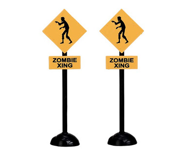 74218 - Zombie Crossing, Set of 2 - Lemax Spooky Town Accessories