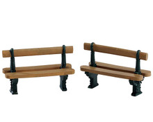 74235 - Double Seated Bench, Set of 2 - Lemax Misc. Accessories