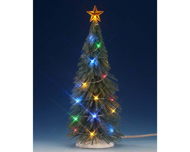 74265 - Chasing Multi Light Spruce Tree, Large, Battery-Operated (4.5v) - Lemax Trees