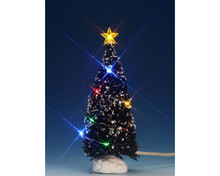 74266 - Multi Light Evergreen Tree, Medium, Battery-Operated (4.5v) - Lemax Trees