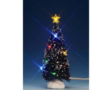 74266 - Multi Light Evergreen Tree, Medium, Battery-Operated (4.5v) - Lemax Trees