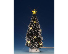 74267 - Clear Light Evergreen Tree, Medium, Battery-Operated (4.5v) - Lemax Trees