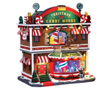 65164 - Christmas Candy Works, with 4.5v Adaptor - Lemax Caddington Village