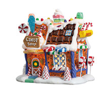 75181 - The Candy Shop, Battery-Operated (4.5v) - Lemax Sugar N Spice Houses