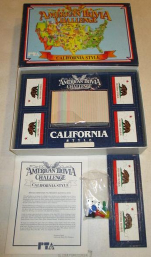 Vintage Board Games - American Trivia Challenge - California PTA