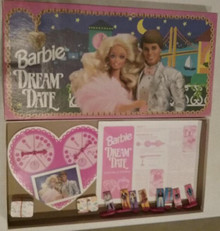Vintage Board Games - Barbie Dream Date - Golden
