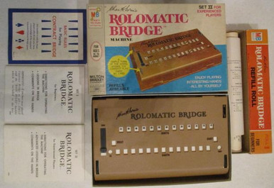 Vintage Board Games - Charles Goren's Rolomatic Bridge Machine - Milton Bradley