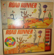 Vintage Board Games - Roadrunner Game - Milton Bradley