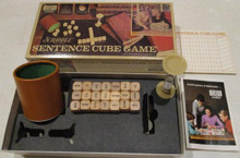 Vintage Board Games - Scrabble Sentence Cube Game - 1971 - Selchow & Righter
