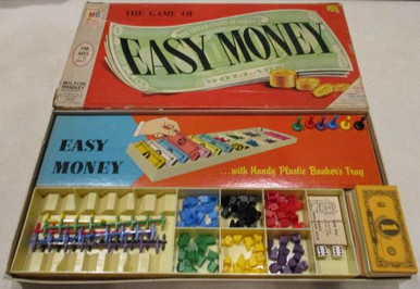 Vintage Board Games - Easy Money - 1956 - Milton Bradley