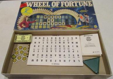 Vintage Board Games - Wheel of Fortune - Second Edition - 1986 - Pressman