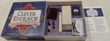Vintage Board Games - Clever Endeavor - 1989 - Games Gang