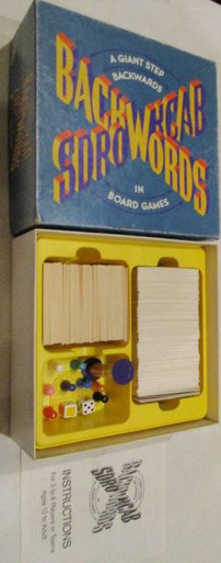 Vintage Board Games - Backwords - 1988