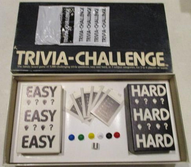 Vintage Board Games - Trivia Challenge - 1984