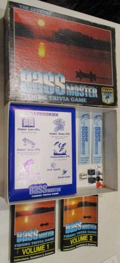 Vintage Board Games - Bass Master Fishing Trivia Game - 1985