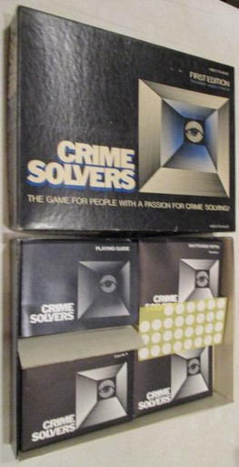 Vintage Board Games - Crime Solvers - Cases 1-10 - 1985